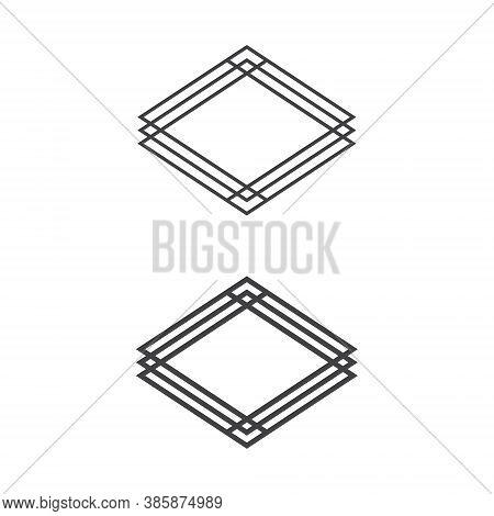 Casino Badge Set Collection Diamond Shape Illustration Design - Play Symbol Game Poker Game Las Vega
