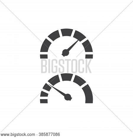 Speedometer Logo Set Collection - Minimal Vector Speed Car Auto Gauge Power Fast Arrow Dashboard Pan