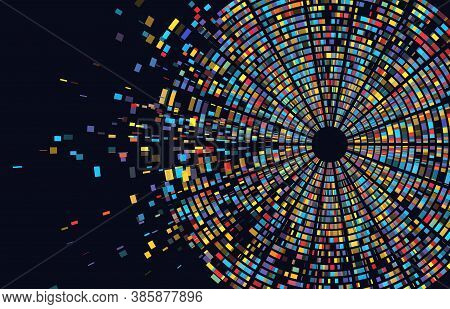 Dna Test Infographic. Genome Sequence Map. Chromosome Architecture, Molecule Sequencing Chart. Genet