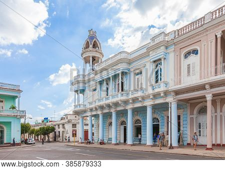 Cienfuegos, Cuba-october 13, 2016. Palace Ferrer With The Best View Of The City And The Sea From Dom