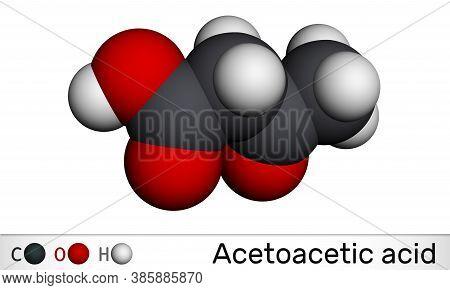 Acetoacetic Acid, Diacetic, Oxobutanoic Acid Molecule. It Is A Ketone Body, Conjugate Acid Of An Ace