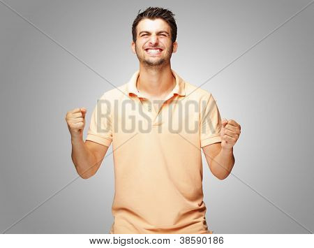 Portrait Of Excited Young� Man, Outdoor