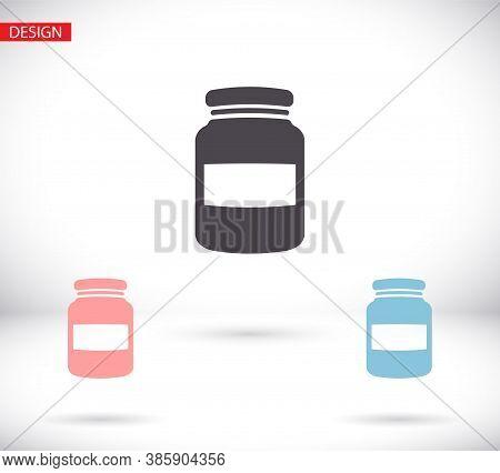 Honey Jar Icon . Vector Honey Jar . Illustration Honey Jar . 10 Eps Honey Jar . Simple Image Honey J