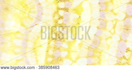 Bleach Tie Dye. Trandy  Oil Backdrop. Golden Paint. Aureate Vintage Design. Abstract Dirty Art Templ