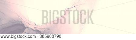 Fashion Artwork. Art Design. Artistic Background. Grey Pink Fashion Artwork. Alcohol Ink Illustratio