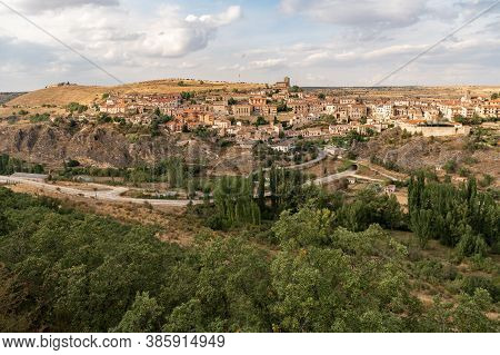 Village Of Sepúlveda, In The Province Of Segovia. Considered One Of The Most Beautiful Villages In S