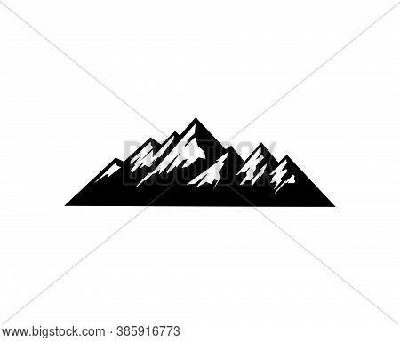 Mountain Icon Isolated On White Background. Mountain Vector Design Illustration. Mountain Simple Sig