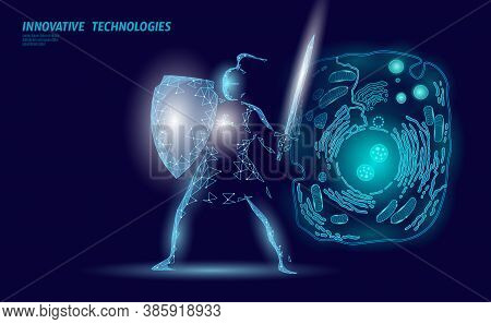 Science Biology Gene Modifying Concept. Laser Operation Virtual Reality Modification. Futuristic Med