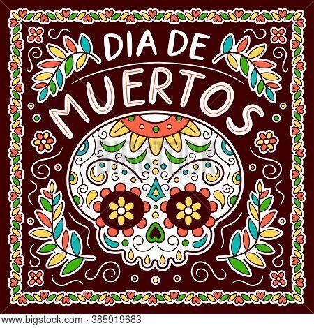 Mexican Day Of The Dead, Dia De Muertos Concept. Vector Flat Line Cartoon Character Illustration Ico