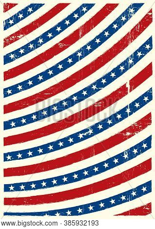 An American Background With A Grunge Texture For Your