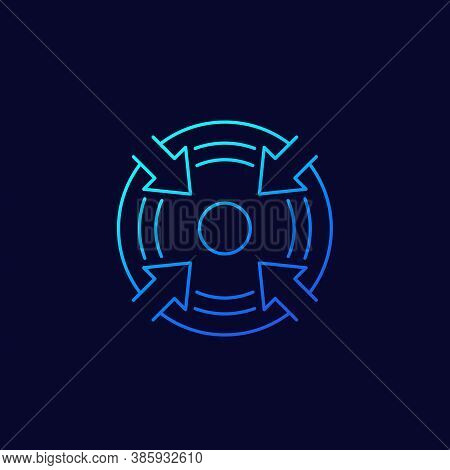 Specific Focus, Concentration Vector Line Icon, Eps 10 File, Easy To Edit