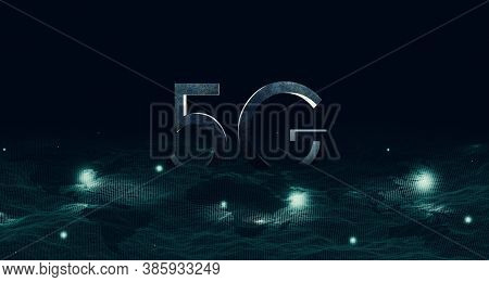 3d Illustration Digital 5g Network And The Internet Of Things On Urban Background, Double Exposure C