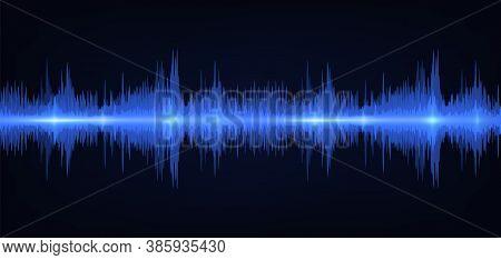 Sound Wave. Vibrant Gradient Light. Frequency Soundtrack Waveform. Vector Illustration Voice Graph S