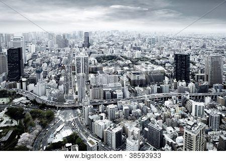 Vistas a la ciudad de skyscarpers
