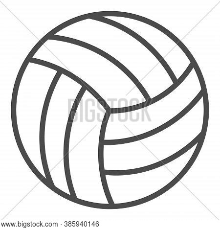 Volleyball Outline Icon. Simple Linear Element Illustration. Isolated Line Volleyball Icon On White