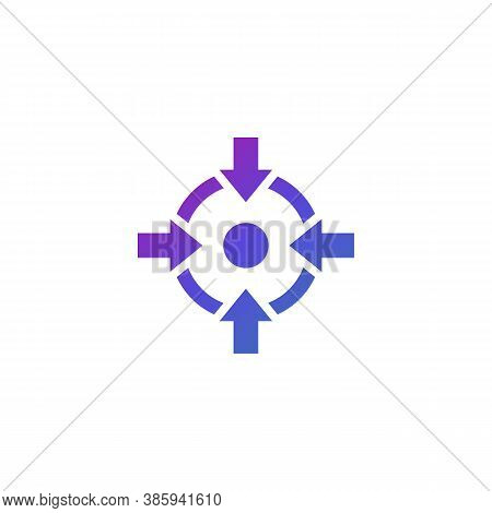 Specific Focus, Concentration Vector Icon, Eps 10 File, Easy To Edit
