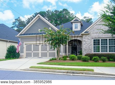 Cumming, Georgia - September 13, 2020: The Housing Market Is Facing A New Boom In Growth Thanks To T