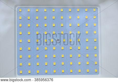 Smd Matrix Of A 100-watt Led Floodlight.