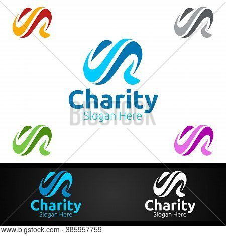Letter C Helping Hand Charity Foundation Creative Logo For Voluntary Church Or Charity Donation