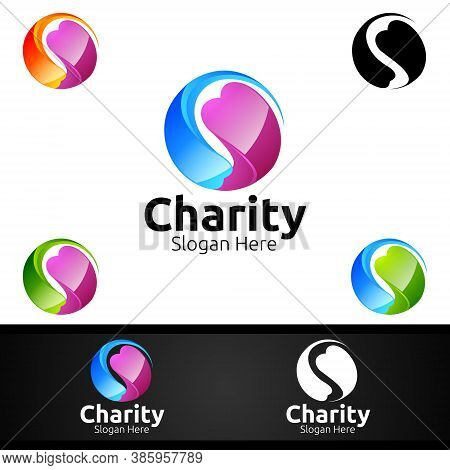 3d Helping Hand Charity Foundation Creative Logo For Voluntary Church Or Charity Donation Design