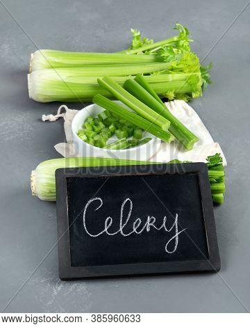Fresh Green Organic Celery