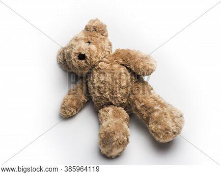 Teddy Bear Isolated On White Background. Teddy Bear Isolated On White Background.