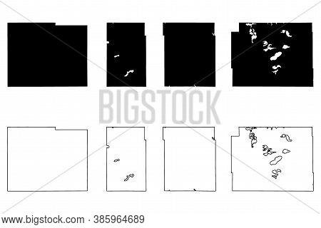 Lyon, Lincoln, Mower And Otter Tail County, Minnesota (u.s. County, United States Of America, Usa, U