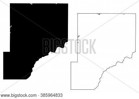 Pine County, Minnesota (u.s. County, United States Of America, Usa, U.s., Us) Map Vector Illustratio
