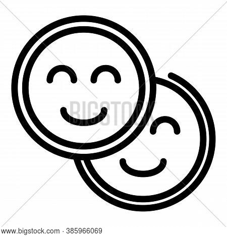 Trust Emoji Icon. Outline Trust Emoji Vector Icon For Web Design Isolated On White Background