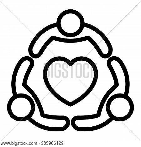 True Friends Icon. Outline True Friends Vector Icon For Web Design Isolated On White Background