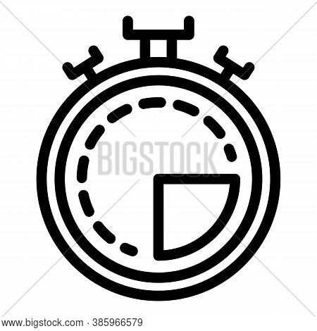 Referee Stopwatch Icon. Outline Referee Stopwatch Vector Icon For Web Design Isolated On White Backg