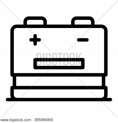 Recharge Battery Icon. Outline Recharge Battery Vector Icon For Web Design Isolated On White Backgro