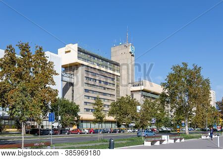Novi Sad, Serbia - August 31, 2020: Elektroprivreda Srbije Eps State-owned Electric Utility Power Co