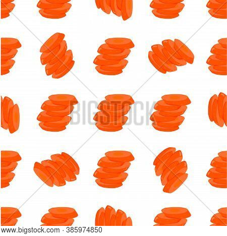 Illustration On Theme Of Bright Pattern Yellow Carrot, Vegetable Root For Seal. Vegetable Pattern Co