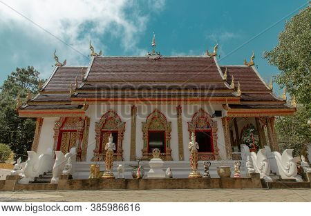Phra That Doi Tung Temple (wat Phra That Doi Tung). Buddhist Monastery And Temple Of Public. Chiang