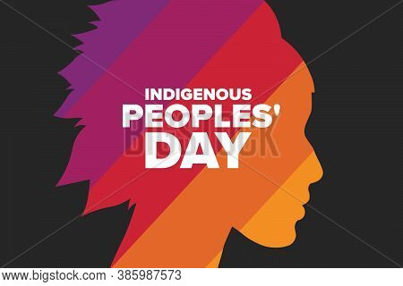 Indigenous Peoples Day. Holiday Concept. Template For Background, Banner, Card, Poster With Text Ins