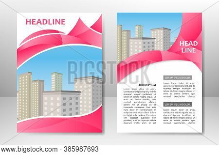 Flyer Template Design For Business Brochure, Poster, Booklet, Presentation, Annual Report, Magazine