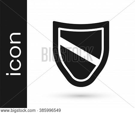 Black Shield Icon Isolated On White Background. Guard Sign. Security, Safety, Protection, Privacy Co