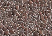 stone wall - light brown stone surface poster