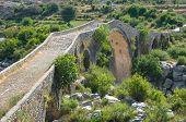 Mes Bridge (Albanian: Ura e Mesit) near Shkoder in Albania poster