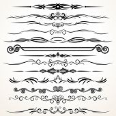 Vector Design Elements. Ornamental Lines to Embellish your Book, Invitation, Card or Menu poster