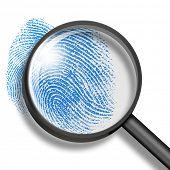 fingerprint through magnifying glass poster