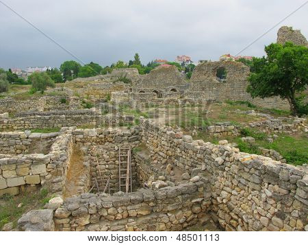 Ruins of Hersones, ancient greece  settlement on Crimea poster