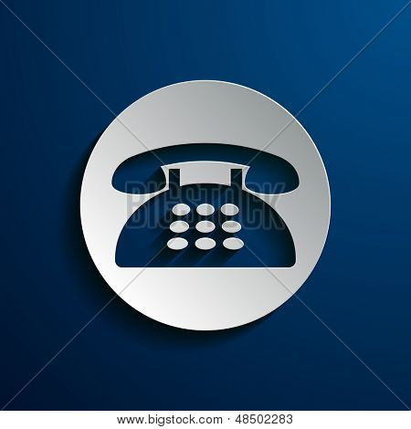 vector illustration of icons phone