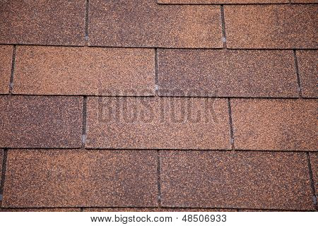 Brown Asphalt Roofing Shingles.