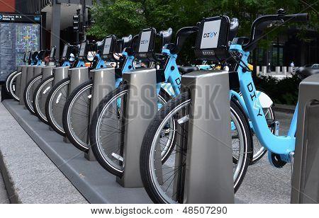 Divvy Bike Rental Station In Chicago