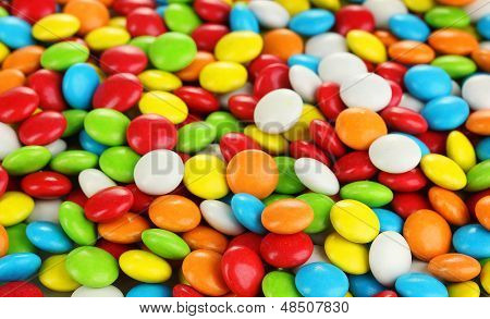 Colorful candies close up