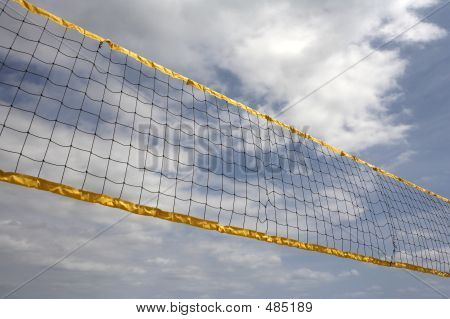Looking Up At Volleyball Net
