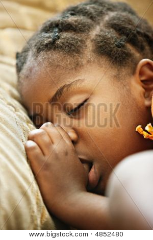 African Child Sleeping