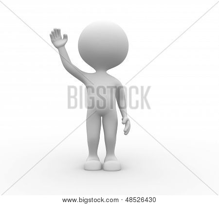 3D Man Salute